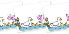 Silent Letters on Five Little Ducks