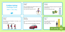 Addition and Subtraction Problem Solving (5) Challenge Cards