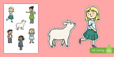 Mary Had a Little Lamb Story Cut Outs