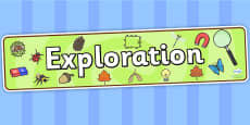 Exploration Display Banner
