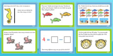 Under the Sea Themed KS1 Maths Challenge Cards