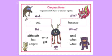 Conjunctions KS1 Word Mat