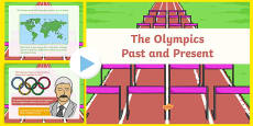 The Olympics Past and Present PowerPoint