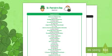 * NEW * St. Patrick's Day Book List