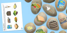 Food Themed Story Stones Image Cut Outs
