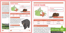 * NEW * Central Canada Fact File
