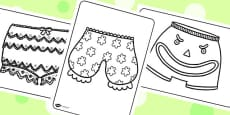 Story Colouring Sheets to Support Teaching on Pants