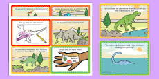 Dinosaur Park Role Play Challenge Cards