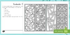 Make Your Own Kowhaiwhai Pattern Bookmarks