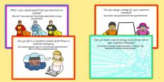 Superhero Role Play Challenge Cards English / Polish