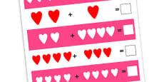 Heart Addition Worksheets