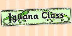 Iguana Class Display Banner