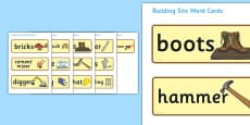 Building Site Word Cards