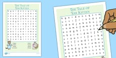 Beatrix Potter - The Tale of Tom Kitten Wordsearch