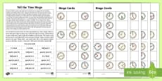 * NEW * Year 2 Maths Tell the Time Bingo Homework Activity Sheet