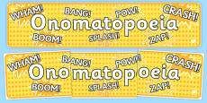 Onomatopoeia Display Banner