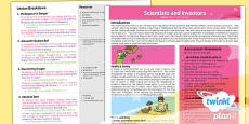PlanIt - Science Y4 - Scientists and Inventors Planning Overview