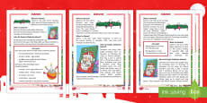 KS1 Advent Differentiated Reading Comprehension Activity