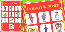 Punch and Judy Vocabulary Poster