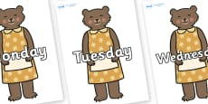 Days of the Week on Mummy Bear