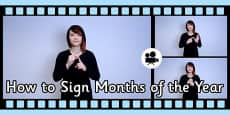 How to Sign Months of the Year in British Sign Language (BSL) Video Clip