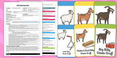 Billy Goats Gruff Listening Activity EYFS Adult Input Plan and Resource Pack