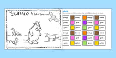 The Gruffalo Colour Labels Activity