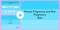 Identifying Whether a Sentence is in the Present Progressive or Past Progressive PowerPoint