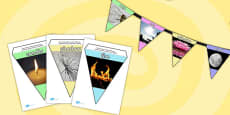 Light and Dark Photo Bunting