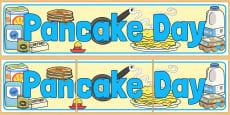 Pancake Day Display Banner