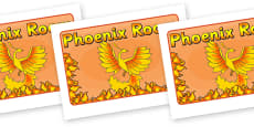 Phoenix Room Display Sign