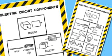 Year 4 Circuit Components Classroom Display Poster