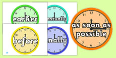 Time Conjunctions on Clocks