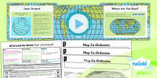 PlanIt - Geography Year 4 - All Around the World Lesson 2: Over and Around Lesson Pack
