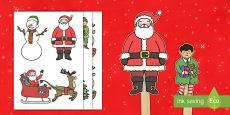 Marionetas de palo -  La Navidad