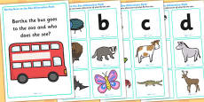 Bertha Goes to the Zoo Alliteration Activity Pack