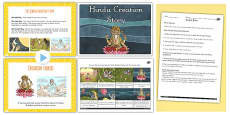 Buddhist, Jewish and Hindu Creation Stories Lesson Teaching Pack