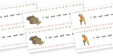 Number and Alphabet Strips (Pirates)