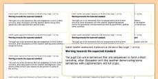End of Key Stage 1 English Writing Objectives Sticker Templates