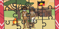 Australia - Aboriginal and Torres Straight Islander Family Jigsaw Puzzle