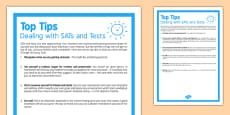 Top Tips Dealing With SATs and Tests