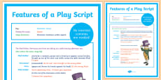 Australia - Features of a Play Script Display Poster