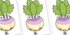 Tricky Words on Enormous Turnip