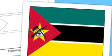 Mozambique Flag Display Poster