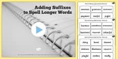 Year 2 Adding Suffixes to Spell Longer Words SpaG Informative PowerPoint Teaching Pack