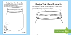 * NEW * Design Your Own Dream Jar Activity Sheet