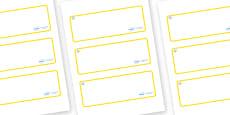 Diamond Themed Editable Drawer-Peg-Name Labels (Blank)