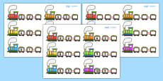 Train Subtraction Activity Sheets