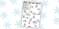 Polar Regions Roll and Colour Activity Sheet