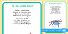 Incy Wincy Spider Display Poster